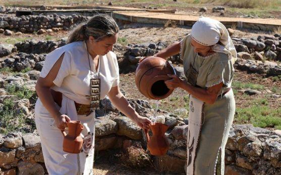 Recreación histórica de Tierraquemada en Numancia. /Archivo.