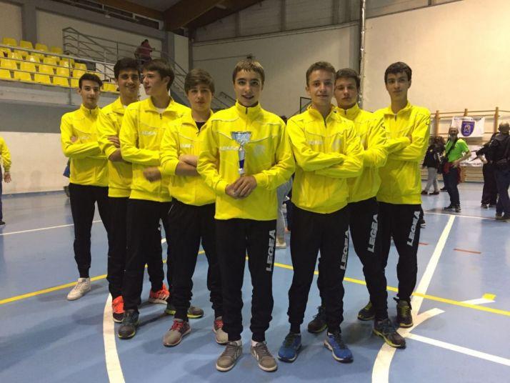 Los cadetes del BM Soria, terceros.