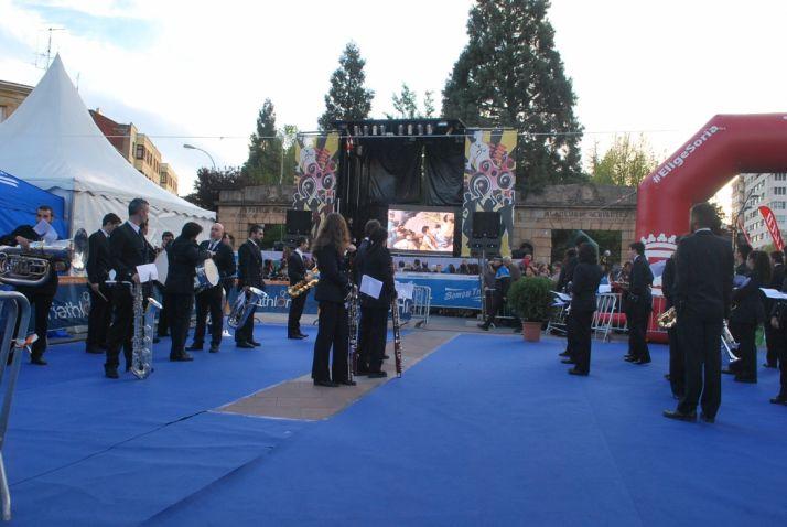 Una imagen de la ceremonia este viernes. /SN