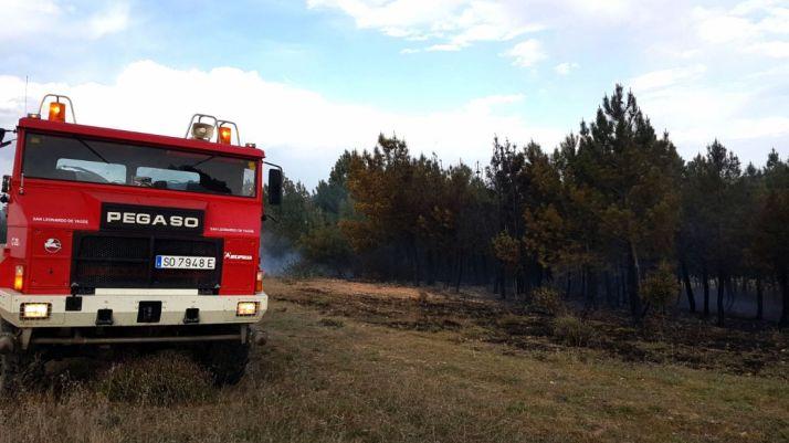 Imagen el lugar del incendio. /SN