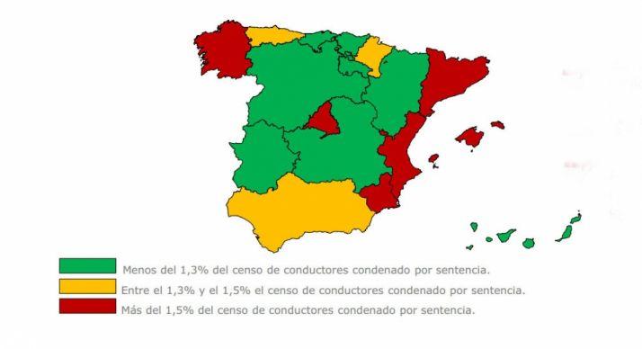 Censo de conductores condenados por sentencia penal.
