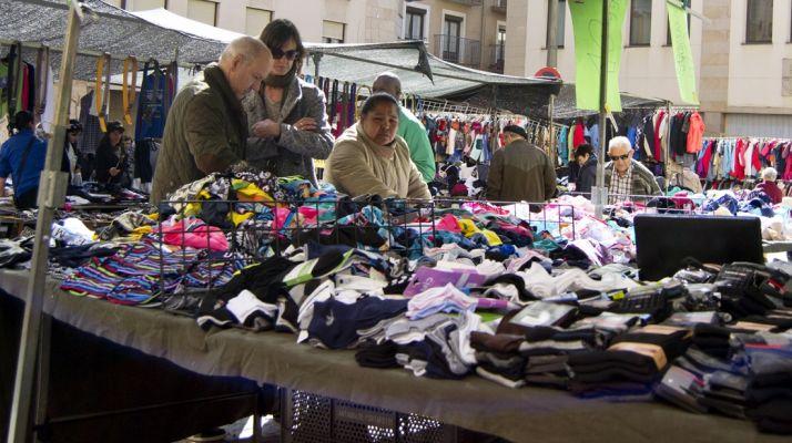 Puesto del mercado en su ubicación durante los últimos años.  Patricia Lapresta