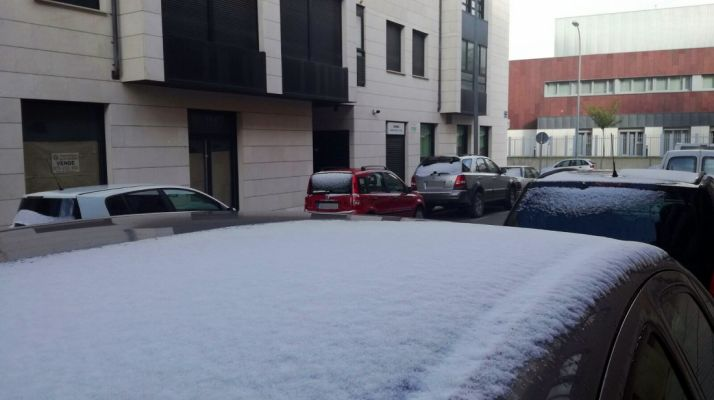 Imagen de la nieve en la capital./SN