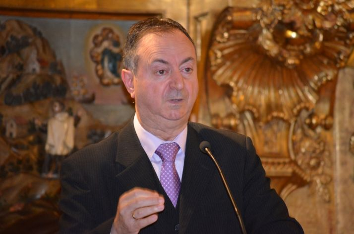 Jesús Alonso, en su pregón de Semana Santa.