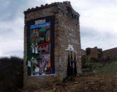 El mural en Sarnago. /AAMS
