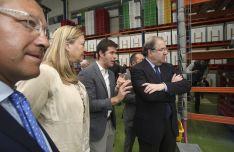 Una imagen de la visita de Herrera al polígono olvegueño. /SN