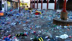 Aledaños de San Benito tras el Viernes de Toros./SN