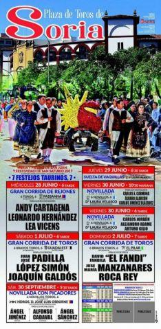 El cartel para esta temporada taurina en Soria.