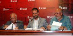 Coca (izda.), Hernández y Martínez. /Ayto.