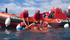 Un simulacro de salvamento de Cruz Roja./SM