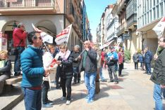 Una imagen de la manifestación este lunes, Primero de Mayo. /SN
