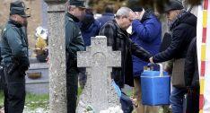 Exhumación de los restos de Leoncio González en Quintana el pasado 23 de marzo. /SN