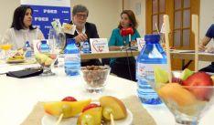 Nuria Gutiérrez, (izda.) Santiago Aparicio y María Ángeles Fernández este viernes. /SN
