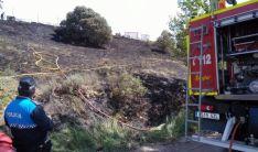 El terreno quemado en Los Royales. /Ayto.