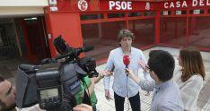 Mínguez compareciendo ante la prensa en estos comicios del partido. /SN