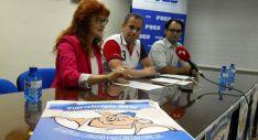 Ana Calvo, Marino García y Carlos Hernández este viernes./SN