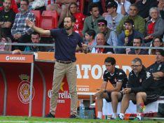 Pablo en el partido de hoy ante el Zaragoza. LFP