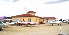 Aeródromo de Garray en una jornada de puertas abiertas. /Archivo.