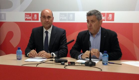 Jesús Manuel Alonso (izda.) y Javier Antón este lunes.