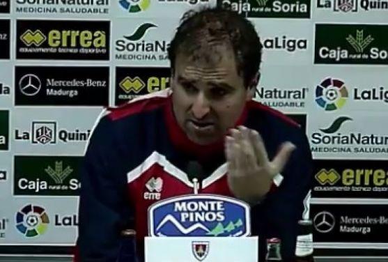 Jagoba Arrasate, entrenador del Numancia.