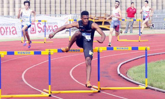 El atleta, brillante en Alcorcón.