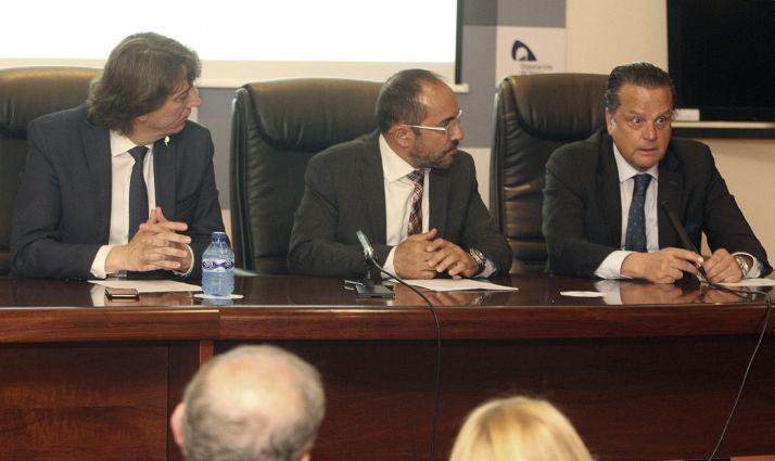 Mario Amilivia (dcha.), Luis Rey y Carlos Martínez Mínguez. /SN