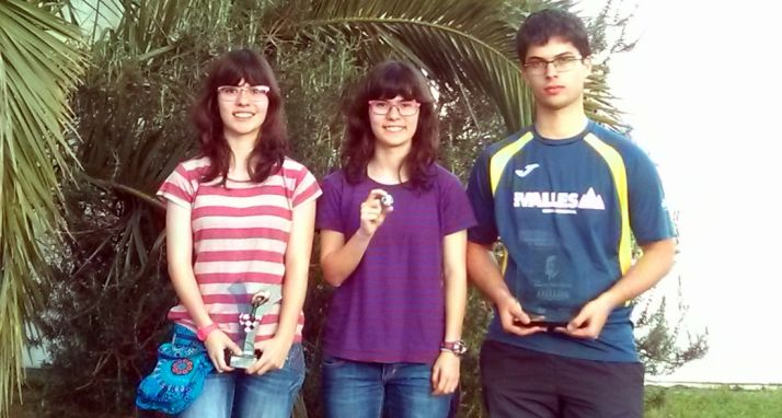 Antonio, Paula y Yaiza Rupérez.