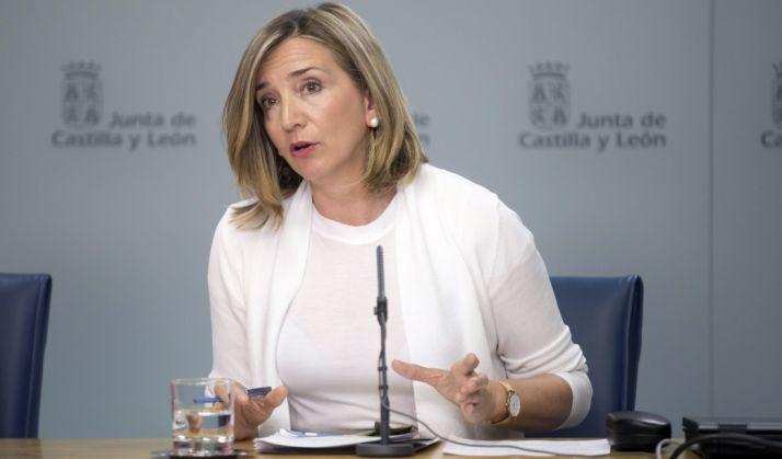 Alicia García en la presentación del Plan. /Jta.