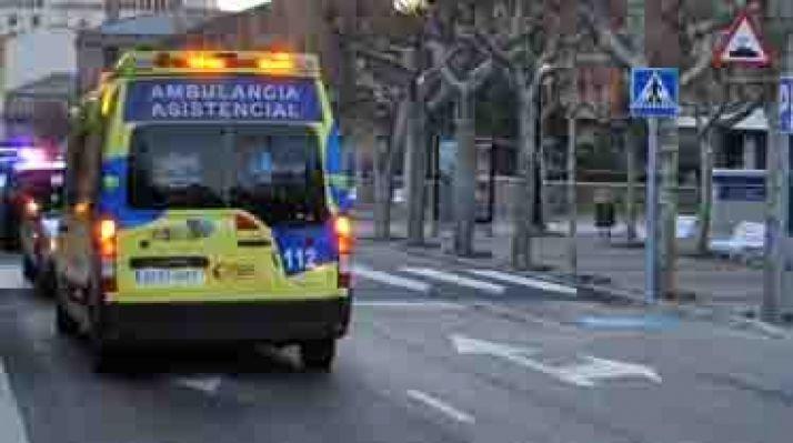 Un vehículo de transpore sanitario./SN