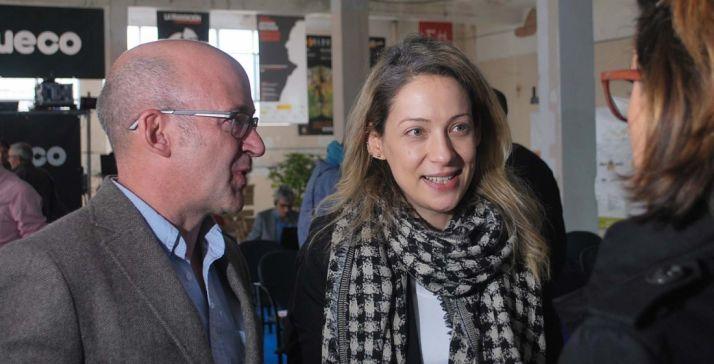 Edelmira Barreira con el presidente de Cives Mundi, Antonio López Calvín. /SN