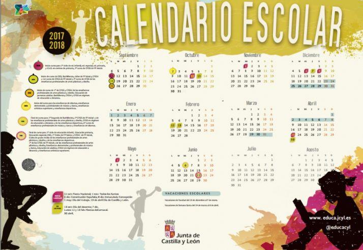 El calendario oficial para el curso 2017-2018.