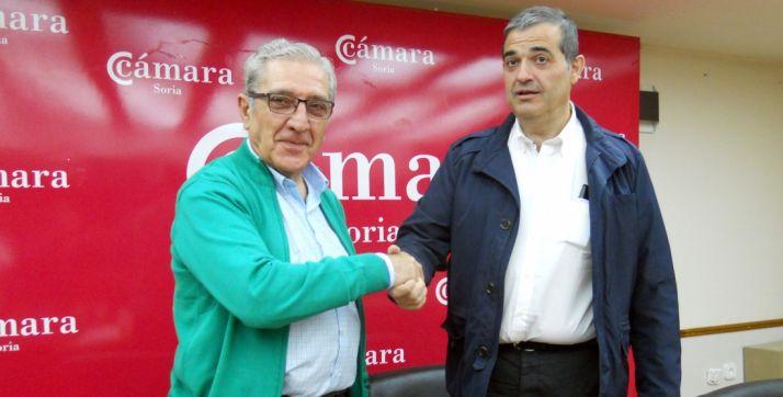 Fernando Ligero y Alberto Santamaría este jueves. /SN