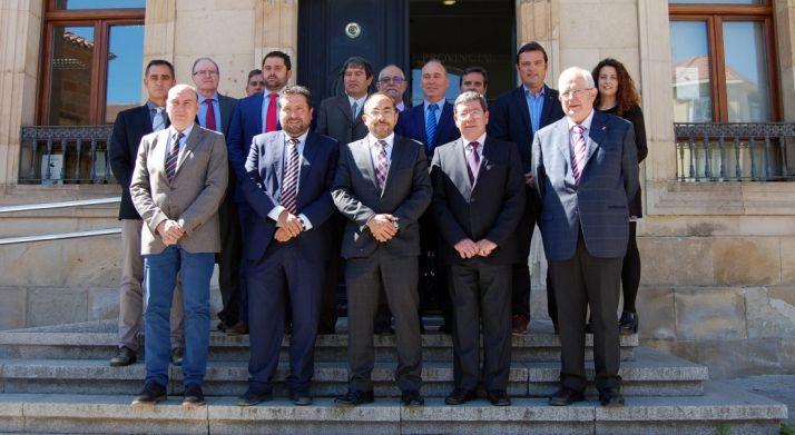 Representantes de las diputaciones que amparan el camino, este miércoles en Soria. /Dip.