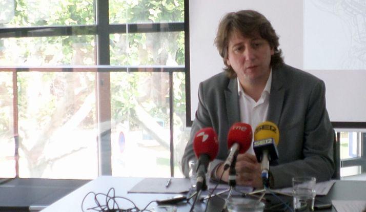 El alcalde, este miércoles en rueda de prensa. /SN