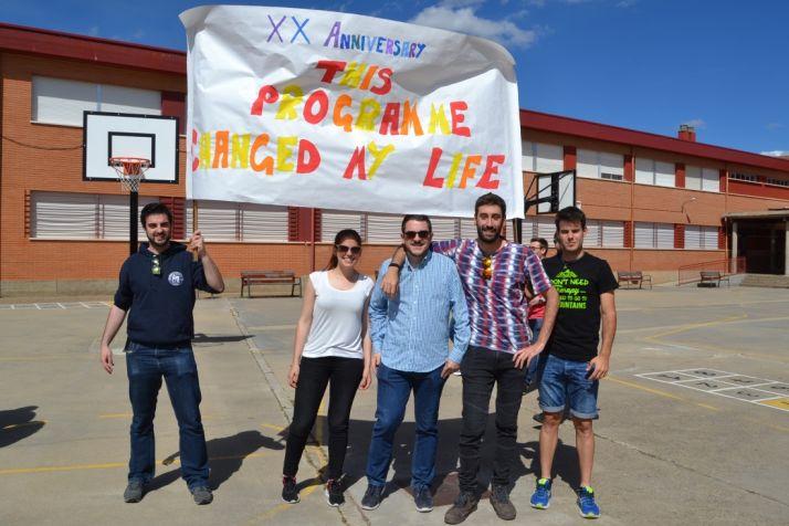 Alumnos y ex alumnos del Colegio Doce Linajes de Soria. /SN