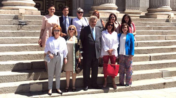 La comitiva soriana con los parlamentarios.