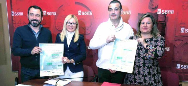Javier Muñoz, Blanca García, Alberto Santamaría y Esther Pérez. /Ayto.