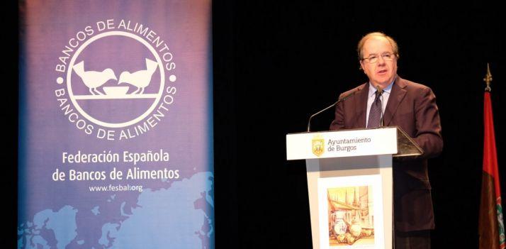 Juan Vicente Herrera, este viernes en Burgos. /Jta.