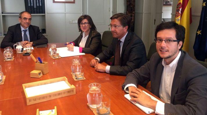 Manuel Niño, (izda.), Angulo, Martínez y Cabezón.