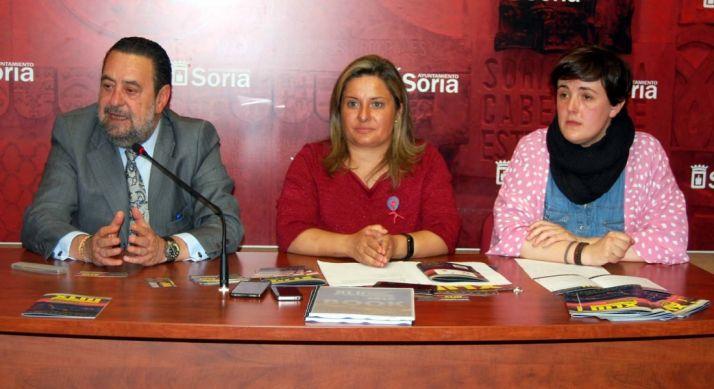 Fernando Ibáñez, Esther Pérez y Ana Alegre este miércoles. /AS