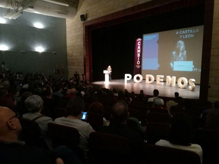 Imagen de una de las intervenciones en el Palacio de la Audiencia/ SN