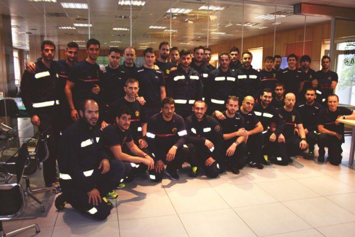 Imagen de los bomberos participantes/ JCyL