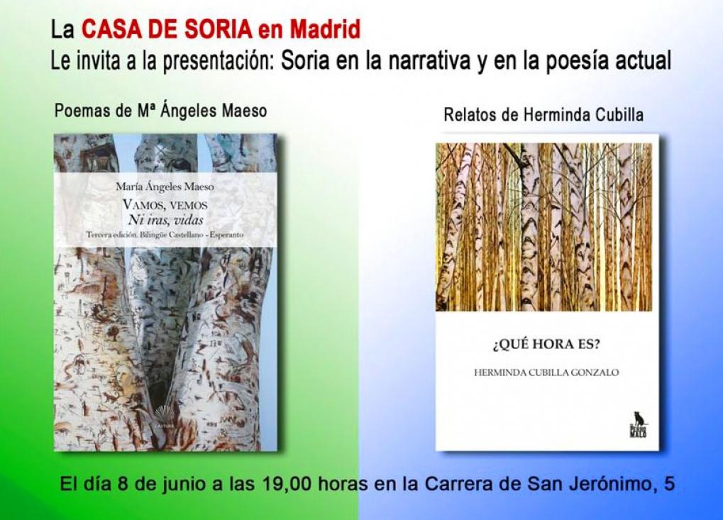 2 títulos nuevos el jueves en la Casa de Soria en Madrid