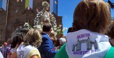 Imagen del inicio de la procesión en su incio a la salida del santuario. /SN