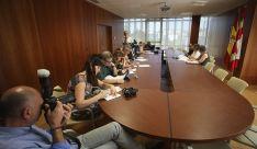 Imagen de la presentación del Plan de Empleo de la Junta este miércoles. /SN