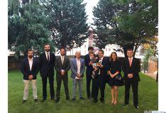 Miembros de AJE Soria tras la gala. /SN
