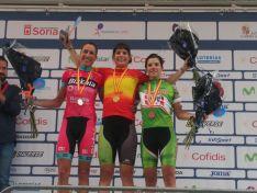 Podio Femenino Élite del Campeonato de España de Ciclismo. /RFEC