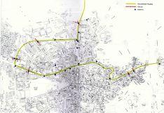 Mapa con el itinerario de carrera.