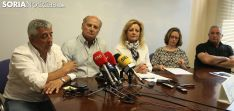 Elvira (izda.), De Pablo, Pérez, Torres y Soria este martes en rueda de prensa./SN