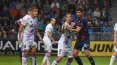 El Numancia ha aguantado la presión del Huesca sin encajar gol. /LaLiga.